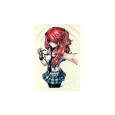 anime ❤ liked on Polyvore featuring anime girl