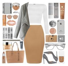 """""""Tan"""" by xgracieeee ❤ liked on Polyvore featuring WearAll, Gianvito Rossi, Michael Kors, Paperchase, Origins, Christian Dior, Retrò, Korres, Maybelline and Linda Farrow"""