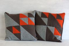 Pillows set. Modern patchwork. Home decor. Check out this item in my Etsy shop https://www.etsy.com/listing/277663394/modern-pillow-cases-set-of-2-handmade