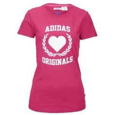 dc50559376b adidas Originals Collegiate S/S T-Shirt - Women's - Sport Inspired -  Clothing - Super Pink Heather/White