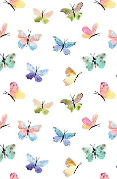 #Butterfly #Pattern / Download more #Watercolor #iPhone #Wallpapers and #Backgrounds at @prettywallpaper