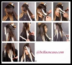 Técnica ombre balayage paso a paso Diy Ombre Hair, Ombre Hair Color, How To Ombre Your Hair, Balyage Long Hair, Balayage Hair, Bayalage, Hair Color Formulas, Hair Color Techniques, Hair Painting