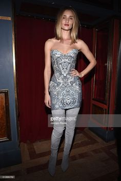 Rosie Huntington-Whiteley attends Balmain Aftershow Party as part of Paris Fashion Week Womenswear Automn/Winter 2016 at Restaurant Laperouse on March 3, 2016 in Paris, France.