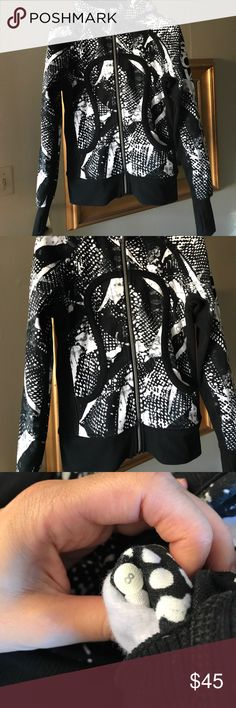 Lululemon scuba jacket Used Once ! Size 8 Lululemon beautiful scuba jacket size 8 used only Once ! lululemon athletica Tops Sweatshirts & Hoodies