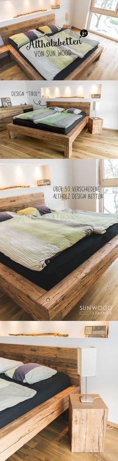 Mives Holzbett Altholzdesign Tirol 02