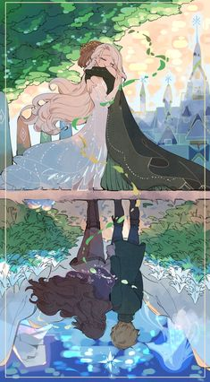 In the name of their parents - King Agnaar, Queen Iduna, ex-Queen Elsa and Queen Anna Frozen Disney, Frozen Art, Disney Magic, Frozen Movie, Humour Disney, Disney Memes, Disney Cartoons, Disney Facts, Disney Amor