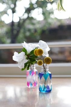 Modern Stained Glass Vase art project