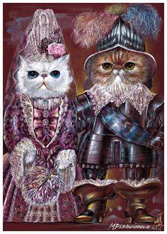 Kittens at the Ball | Art Print 11.7'' x 16.5'' | Animal Century Art Collection