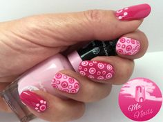 Pink Dotty Nails combines two shades of pink from the Sally Hansen Miracle Gel range of polishes. Multi size dots have been applied with dotting tools.  http://ma-nails.co.uk/pink-dotty-nails/
