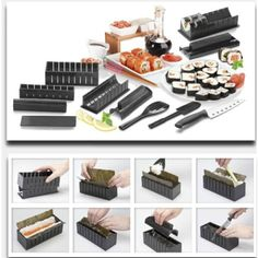 LIPOVOLT 11 PCS Sushi Maker Kit Rice Roll Mold Kitchen DIY Easy Chef Mould Roller Cutter * Read more at the image link. (This is an affiliate link) #ToolGadgetSets