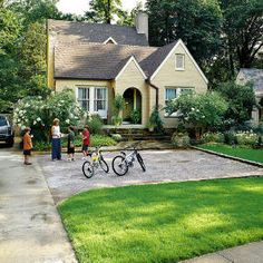 Make an Entrance - parking pad in front yard