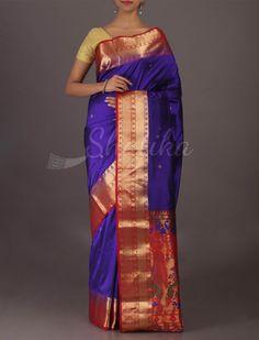 Varuni Royal Paithani Inspired Vibrant #Bangalore #WeddingSilkSaree