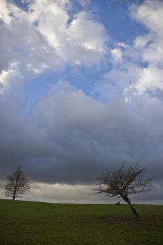 November sky in Germany.
