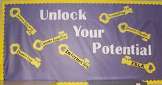 This is a great bulletin board to advertise your business classes before registration.