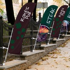 The Bowflag® Street Banner Straight allows our popular Bowflag® to function like a street banner.