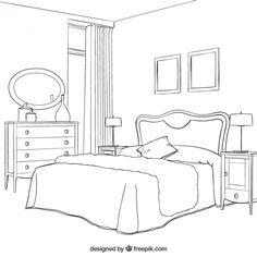 Interior Design For Living Room Interior Architecture Drawing, Drawing Room Interior, Architecture Concept Drawings, Interior Design Sketches, Best Interior Design, Furniture Plans, Cheap Furniture, Furniture Design, Furniture Movers