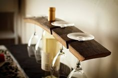 Brin & Nohl: gifts for you gifts for me Fun Diy Crafts, Wood Crafts, Wine Barrel Furniture, Wine Storage, Storage Ideas, Wine Glass Holder, Wine And Liquor, Furniture Making, Wood Projects