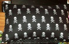 SKULL PILLOW! - Halloween! - Harley Davidson! by SewCraftCrazy4U on Etsy