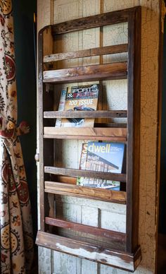 Repurposed/pallet Wood Wall Mount Magazine Rack