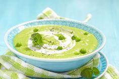 Zupa krem z groszku z miętą