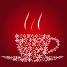 Stock image of 'Christmas coffee cup'