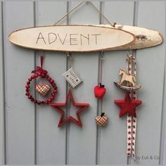 Window Ornaments - Window Decor ~ Advent ~ - a unique product by EuliundCo on DaWanda (Diy Ideas Woo Noel Christmas, Christmas And New Year, Winter Christmas, Handmade Christmas, Christmas Wreaths, Christmas Crafts, Christmas Decorations, Xmas, Christmas Ornaments