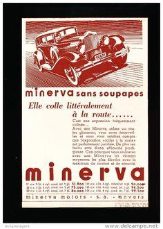 1935, Minerva, reclame met prijzen in Belgische frank