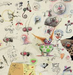 Tim Burton's sketchbook