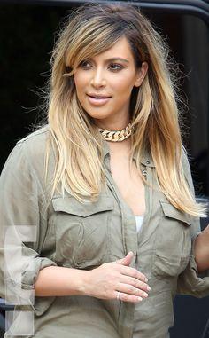 Beautytiptoday.com: New Mommy Makeover: Kim Kardashian Goes Blonde + Kanye Lovin' It!