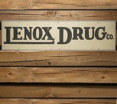 Vintage Enameled Drugstore Sign