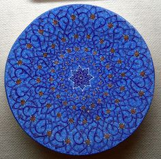 Persian Art. Hand made and my favorite color of blue!
