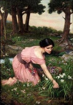 (UK) Flora, the Roman Goddess by John William Waterhouse (1849-1917). Oil on canvas.
