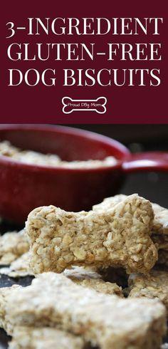 3-Ingredient Gluten-Free Dog Biscuit Recipe | DIY Dog Treats | Homemade Dog Treats |
