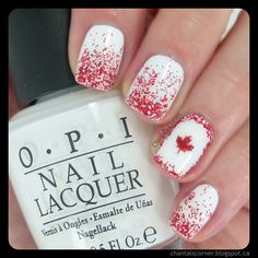 Happy Canada Day! (Busy Girl's Summer Nail Art Challenge Week 2 - Glitter) ~ Chantal's Corner