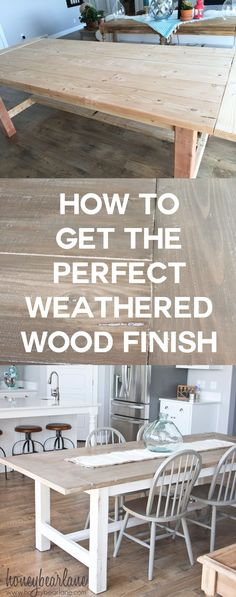 I've been looking for a good DIY weathered wood finish tutorial and this one is perfect!