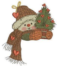 Snowman in love 2 embroidery designe. Machine embroidery design. www.embroideres.com