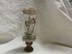 Shabby woodland chic glass cloche https://www.etsy.com/listing/229656236/one-of-a-kind-rustic-shabby-chic-cottage
