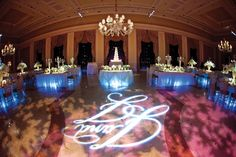 Monogrammed dance floor at The Breakers Photo: Chris Joriann Photography