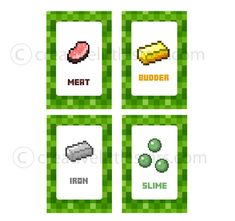 Free Printable Minecraft Food Tent Labels - Bing Images