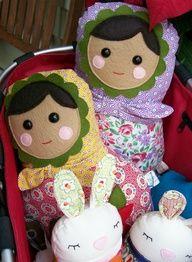 felt  fabric doll- cute!!
