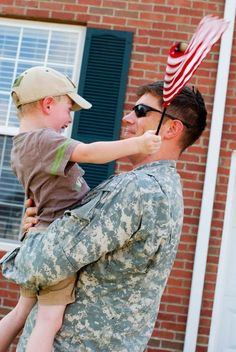 """""""We are so proud to be a military family!"""" - Stacy Coombs"""