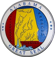 """The [Alabama] seal design is a map of the Alabama and surrounding territories (now states). When Alabama became a state in 1819, this seal became the official state seal and remained unchanged for over 50 years."""