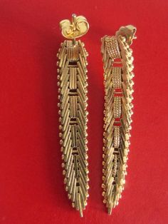 Vintage Gold Filled Art Deco Earrings From by WhenRosesBloom, $38.00