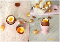 Czekoladowe jajka wielkanocne, Easter eggs, Chocolate eggs, Oeufs de Paques, Oeufs au chocolat