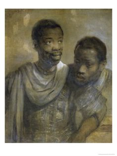Two Black Men, painted by Rembrant