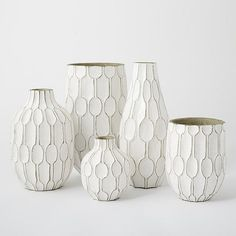 Linework Vases – Honeycomb | West Elm