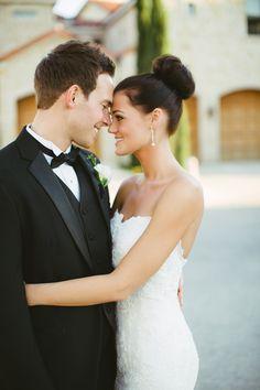 High bun! My beautiful niece, Brittney Grimes-Saye on her wedding day!