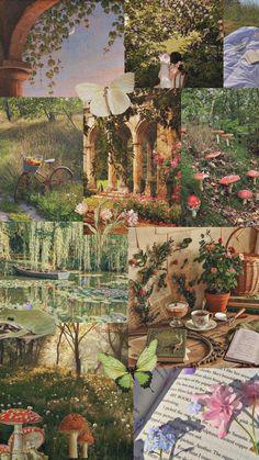 Aesthetic Desktop Wallpaper, Scenery Wallpaper, Pastel Wallpaper, Wallpaper Iphone Cute, Aesthetic Backgrounds, Disney Wallpaper, Wallpaper Backgrounds, Aesthetic Painting, Aesthetic Collage