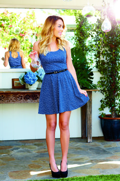 lc #laurenconrad: delicate dots on the perfect summer dress
