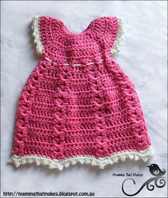 Mamma That Makes: Sophia Gown - Free Crochet Pattern ༺✿ƬⱤღ  http://www.pinterest.com/teretegui/✿༻